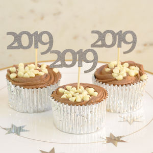 2019 New Year Party Cup Cake Toppers