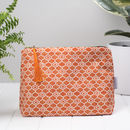Alta Toiletry Bag, Geometric Orange Wash Bag