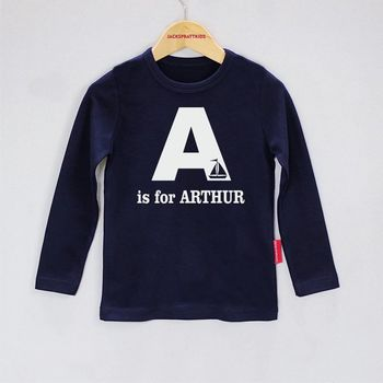 Personalised Alphabet Baby T Shirt