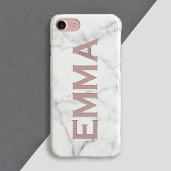 Personalised Cut Out Marble Phone Case