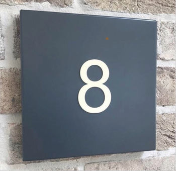 Steel House Number Plate (Traditional Anthracite)