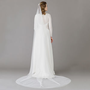 Barley There Wedding Veil Silk Style