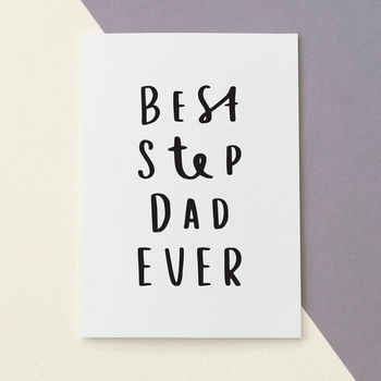 Best Step Dad Ever Father's Day Card