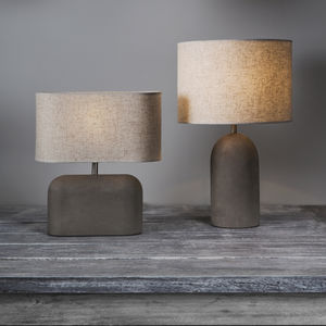 Concrete Table Lamp - bedroom