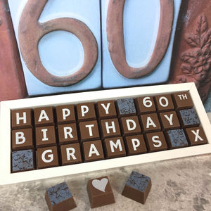 Personalised 60th Birthday Chocolate Box