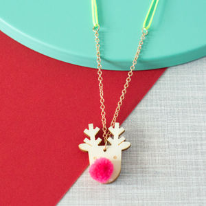 Rudolph Reindeer Sweet Thing Necklace - christmas clothing & accessories