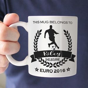 Personalised 'Football' Champion Sports Mug