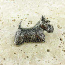 Scottish Terrier Dog Tie Pin Antiqued Pewter