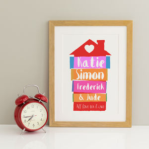 Personalised Home Print - family & home
