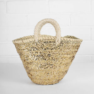Tiny Sequin Basket