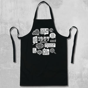 'Events Of 1957' 60th Birthday Apron - birthday gifts