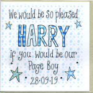 Personalised Will You Be Our Page Boy Card