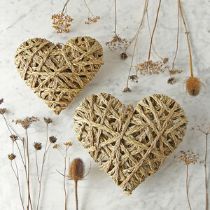 Woven Heart Hanging Decoration