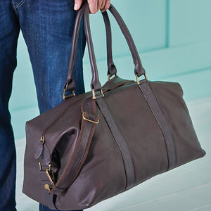 Anthony Handmade Leather Weekend Holdall - men's accessories