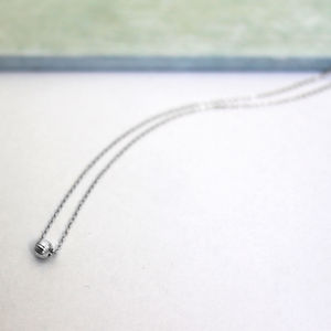 Sterling Silver Small Sphere Necklace