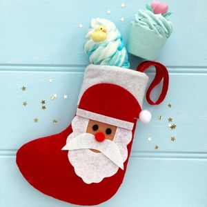 Christmas Santa Stocking With Luxury Scented Bath Bombs - bath & shower
