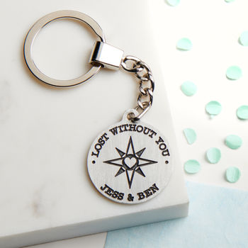 Personalised Lost Without You Keyring