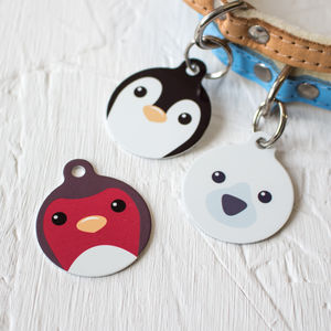 Christmas Pet Tags Winter Animal Friends