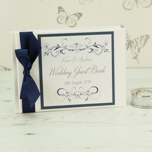 Personalised Lucy Wedding Guest Book - guest books