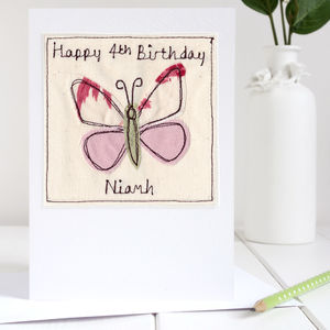 Personalised Butterfly Card - thank you cards