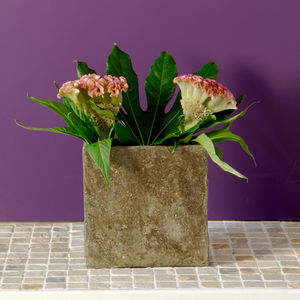Surmi Natural Slate Vase - home accessories