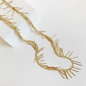 Bcharmd Long Gold Tassel Necklace