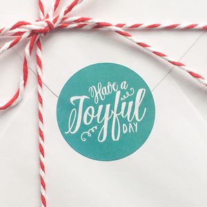 Joyful Day Round Gift Labels - christmas sale