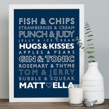 Perfect Partners Fish & Chips Template in navy