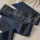 Glitter Print Ribbon 'Birthday Girl' Script Sash