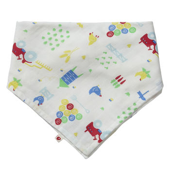 Farm Baby Bandana Bib And Burp Cloth