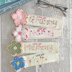 Personalised Flower Bookmark