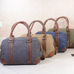 Personalised Canvas Travel Boarding Bag - holdalls & weekend bags