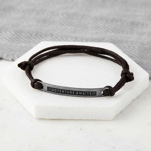 Personalised Mens Message Bracelet - new in jewellery