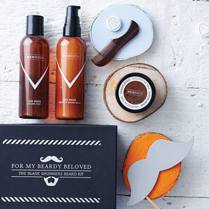 Beard And Moustache Care Gift Set - grooming gift sets