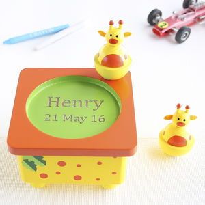 Personalised Giraffe Wooden Music Box - traditional toys & games