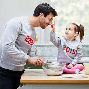 Personalised 'Year' Sweatshirt Set - best father's day gifts
