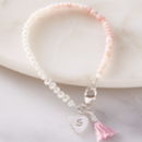 Personalised Mini Pearl And Pink Opal Bracelet