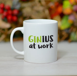 'Gin Ius At Work' Mug - tableware