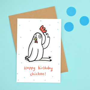 'Happy Birthday Chicken' Card