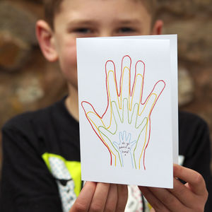 Personalised Family Hands Card - cards for step dads