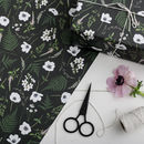 Botanical Gift Wrap Wild Meadow Black