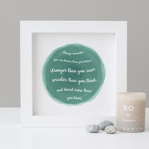 'Winnie The Pooh' Watercolour Quote Print - typography