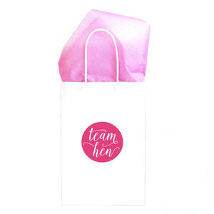 Hen Party Gift Bag | White