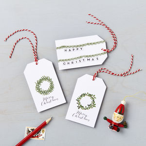 Christmas Wreath Charity Gift Tag Pack *Special Offer*