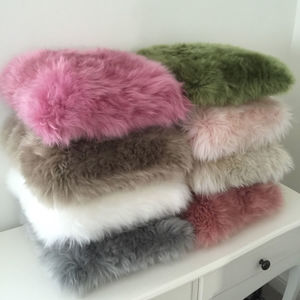 Luxury Sheepskin Cushions 35x35 Choice Of Colour - plain cushions