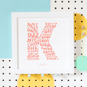 All About Friendship Personalised Best Friend Print - personalised