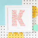 All About Friendship Personalised Best Friend Print