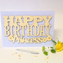 Personalised Happy Birthday Card With Flower Motifs