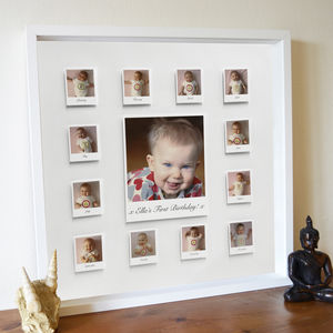 Personalised Year In The Life 3D Baby Frame