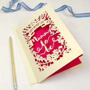 Papercut Mummy To Be Mother's Day Card - mother's day gifts